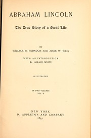 Cover of: Abraham Lincoln | William Henry Herndon