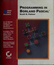 Cover of: Programming in Borland Pascal