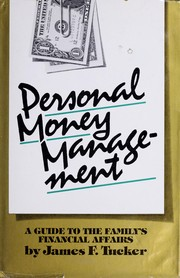 Cover of: Personal money management