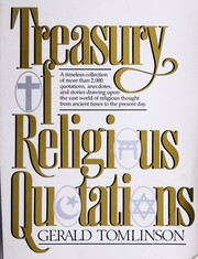 Cover of: Treasury of religious quotations | compiled and edited by Gerald Tomlinson.