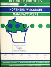 Cover of: Classified directory of Northern Wisconsin manufacturers, 1968