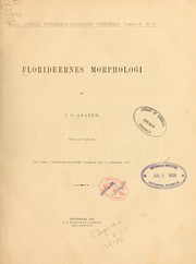 Cover of: Florideernes morphologi