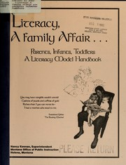 Cover of: Literacy, a family affair ... parents, infants, toddlers | A. June Atkins