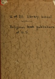 Cover of: Study on religious book publishers of United States