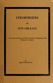 Cover of: Strohmeiers of New Orleans