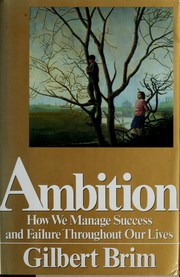 Cover of: Ambition | Gilbert Brim