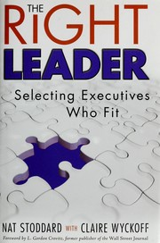 Cover of: The right leader
