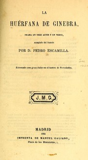 Cover of: La huérfana de Ginebra