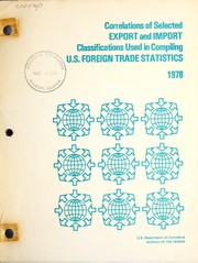 Cover of: U.S. foreign trade statistics