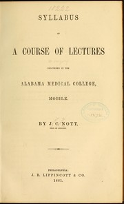 Cover of: Syllabus of a course of lectures [on surgery]