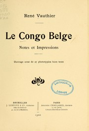 Cover of: Le Congo belge