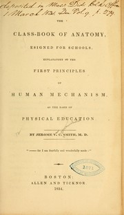 Cover of: The class-book of anatomy