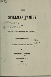 Cover of: The Stillman family in the United States of America
