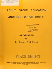 Cover of: Adult basic education, another opportunity
