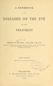 Cover of: A handbook of the diseases of the eye and their treatment