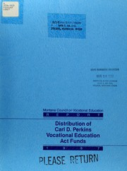 Cover of: Analysis of the distribution of federal funds under the Carl D. Perkins Vocational Education Act of 1984 (Public Law 98-524)