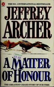 Cover of: A matter of honour