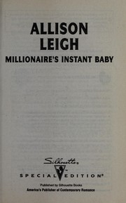 Cover of: Millionaire's instant baby