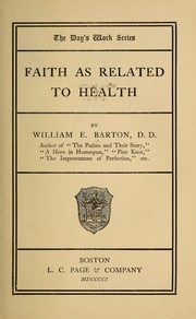 Cover of: Faith as related to health