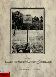 Cover of: A study of Lawrence and Cassandra Southwick
