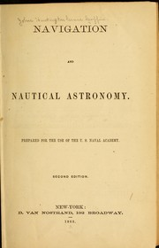 Cover of: Navigation and nautical astronomy