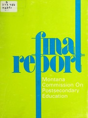 Cover of: Final report - Montana Commission on Post-secondary Education