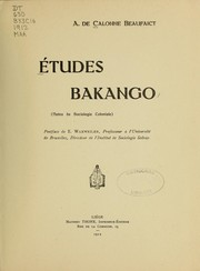 Cover of: Études Bakango