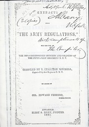 Cover of: Extracts from The Army Regulations, etc