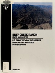 Billy Creek Ranch by U. S. Bureau of Land Management. Idaho State Office
