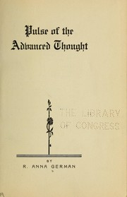 Cover of: Pulse of the advanced thought