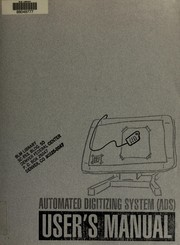 Cover of: Automated digitizing system (ADS)