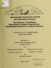 Cover of: Intermountain community learning and information services