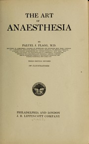 Cover of: The art of anaesthesia