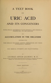 Cover of: A text book on uric acid and its congeners