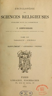 Cover of: Encyclopédie des sciences religieuses