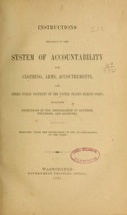 Cover of: Instructions relating to the system of accountability for clothing...--1891