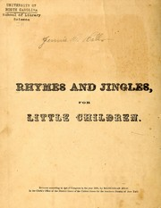 Cover of: Rhymes and jingles for little children