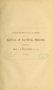 Cover of: Manual of nautical phrases