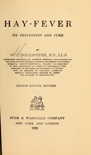 Cover of: Hay-fever, its prevention and cure