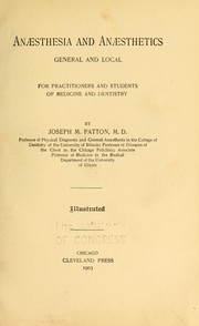 Cover of: Anæsthesia and anæsthetics general and local