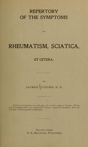 Cover of: Repertory of the symptoms of rheumatism, sciatica, et cetera
