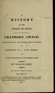 Cover of: A history of the forest or chace