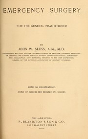 Cover of: Emergency surgery, for the general practitioner