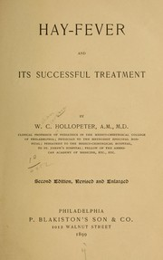 Cover of: Hay-fever and its successful treatment