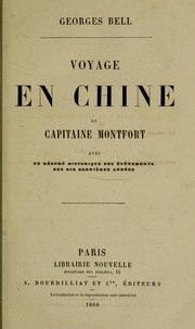 Cover of: Voyage en Chine du capitaine Montfort