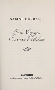 Cover of: Bon voyage, Connie Pickles | Sabine Durrant
