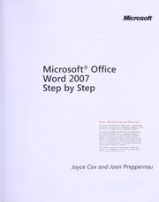 Cover of: Microsoft Office Word 2007 step by step