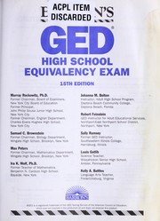 Cover of: Barron's GED, high school equivalency exam