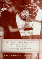 Cover of: Study and Listening Guide for a History of Western Music (7th)