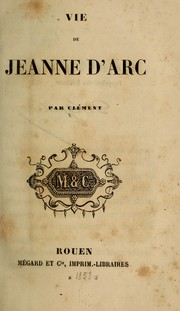 Cover of: Vie de Jeanne d'Arc